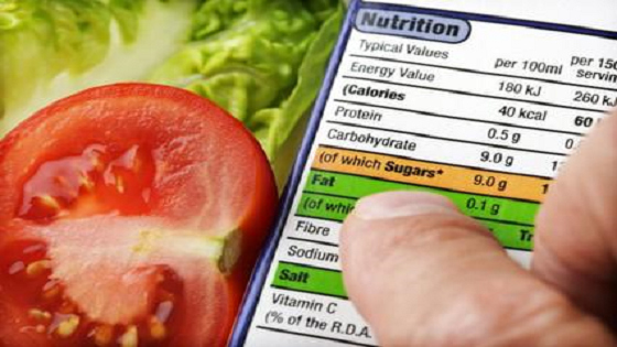 Check nutritional labels in food