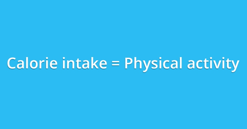 level of physical activity should dictate your calorie intake