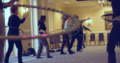 Hula Hoops can be a funworkout!